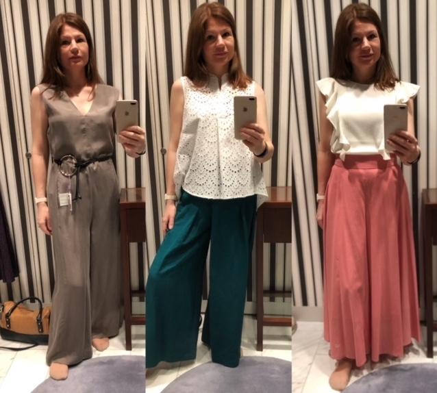 Anprobe verschiedener Outfits meiner Stylistin